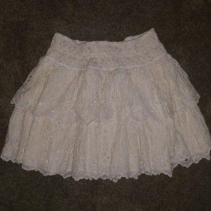Free people eyelet ivory skirt
